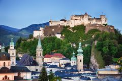 Austria, Salzburg city skyline Royalty Free Stock Photo