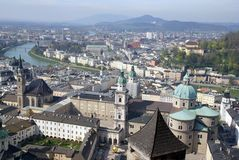 austria Salzburga centrum historyczny widok Obrazy Royalty Free
