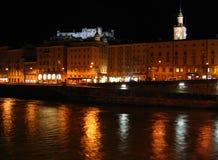 austria Salzburga noce obraz stock