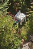 Austria, Salzburger Land, Table setting in garden Stock Image