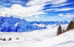 Austria Scenics in Winter Stock Image