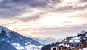 Austria Scenics in Winter Royalty Free Stock Photography