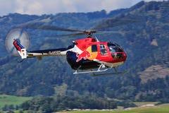 Bo 105. AUSTRIA - SEPTEMBER 02: Bo 105 from Red Bull on Airpower 2016 at Zeltweg royalty free stock images