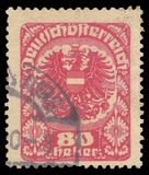 Austria, Series Coat of arms. Austria - stamp printed in1918, Series Coat of arms Royalty Free Stock Images