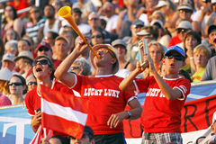 Austria shot put fans Stock Image