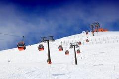 Austria ski lift Royalty Free Stock Images