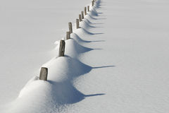 Austria - snowy fence Royalty Free Stock Image