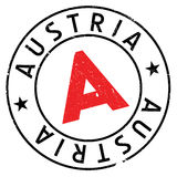 Austria stamp rubber grunge Stock Photos