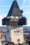 Austria, styria, graz, clock tower Royalty Free Stock Photo