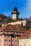 Austria, styria, graz clock tower Stock Image