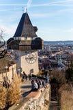 Austria, styria, graz, clock tower Stock Photography
