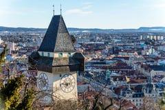 Austria, styria, graz, uhrturm Stock Photos