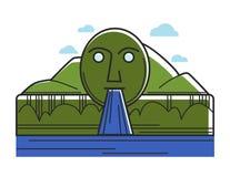 Austria Swarovski fountain Austrian tourism travel landmark and famous sightseeing vector icon Stock Photo