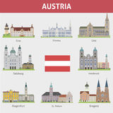 Austria. Symbols of cities Stock Photography
