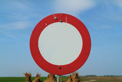 Austria, traffic sign. Austria, sign for no vehicular traffic Stock Photo