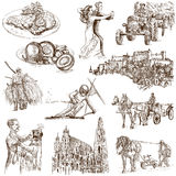 Austria 1. Traveling series: Austria, part 1 - Collection of an hand drawn illustrations. Description: Full sized hand drawn illustrations isolated on white Stock Photos