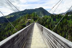 Austria, Tyrol, most Zdjęcia Stock