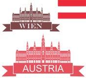 Austria. Vector illustration (EPS 10 Stock Photos