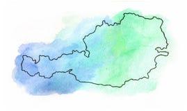 Austria vector map illustration Royalty Free Stock Image