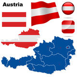 Austria vector set. Stock Photo