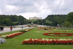 Austria vein summer residence palace   schonbrunn Royalty Free Stock Images