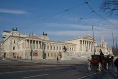 Austria, Viena, el parlamento Imagen de archivo libre de regalías