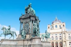 The beautiful Viennese architectures. Austria, Vienna, the Empress Maria Theresia Monument in Theresien square Royalty Free Stock Photography