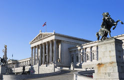 Austria. Vienna. The houses of Parliament. Stock Image