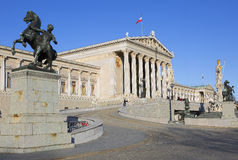Austria. Vienna. The houses of Parliament. Royalty Free Stock Photos