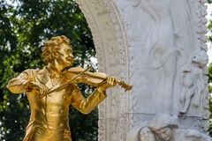 Austria, vienna, johann strauss monument Royalty Free Stock Photos