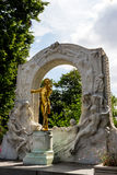 Austria, vienna, johann strauss monument Stock Photography