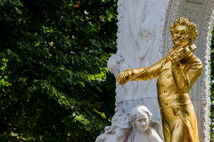 Austria, vienna, johann strauss monument Stock Photos
