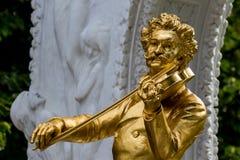 Austria, Vienna, Johann strauss pomnikowi Zdjęcia Royalty Free