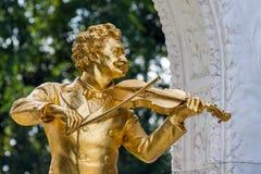 Austria, Vienna, Johann strauss pomnikowi Fotografia Royalty Free