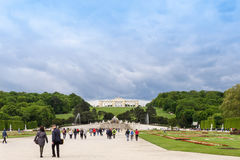 AUSTRIA, VIENNA - MAY 15, 2016: Photo view of schonbrunn Stock Image