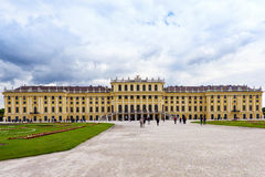 AUSTRIA, VIENNA - MAY 15, 2016: Photo view of schonbrunn Royalty Free Stock Photography