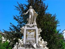 Wolfgang Amadeus Mozart, monument in Vienna stock photography