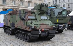 Austria; Vienna; October 21, 2018; The Armored personnel carrier of the Austrian Armed Forces at the National Day of Austria.  stock photo