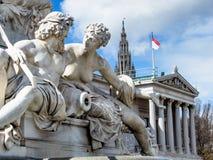 Austria, vienna, parliament Royalty Free Stock Images