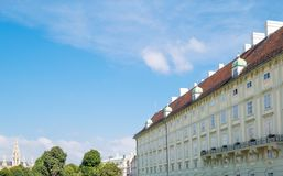 The beautiful Viennese architectures. Austria, Vienna, side view of the Hofburg Imperial Palace Royalty Free Stock Photos