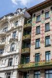 Austria, vienna, wien row houses Stock Photography
