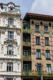 Austria, Vienna, wien rzędów domy Obrazy Stock