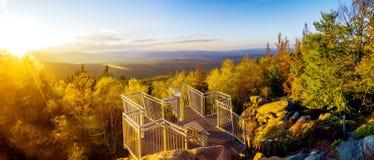 Austria. Viewpoint. Beautiful autumn landscape stock photo