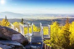 Austria. Viewpoint. Beautiful autumn landscape stock image