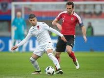 Austria vs. Albania Royalty Free Stock Image