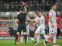 Austria vs. Albania Stock Photos
