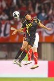 Austria vs. Belgium Royalty Free Stock Photo