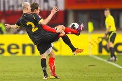 Austria vs. Belgium Stock Photography