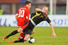 Austria vs. Belgium Royalty Free Stock Images