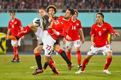 Austria vs. Belgium Royalty Free Stock Images